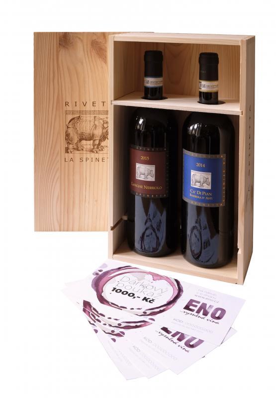 darkový balíček La Spinetta Piedmont - červené